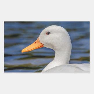 Weiße Stockenten-Ente Rechteckiger Aufkleber