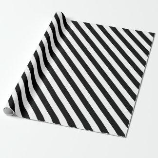 Weiße Streifen mit schwarzer Farbe des Geschenkpapier