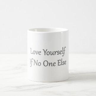 Weiße Tasse der Liebe-sich