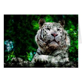 Weiße Tiger-gemischte Medien Karte