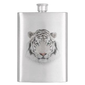 Weiße Tiger-Kopf-Klassiker-Flasche Flachmann
