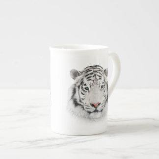 Weiße Tiger-Kopf-Tee-Schale Porzellantasse