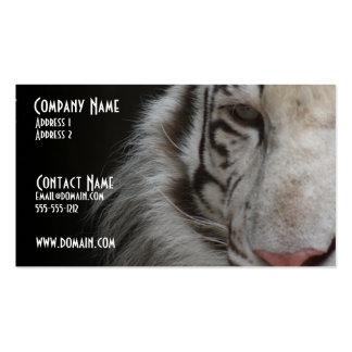 Weiße Tiger-Visitenkarte