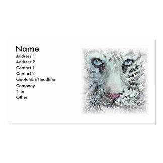 Weiße Tiger-Visitenkarte Visitenkarten