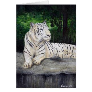 Weiße Tigermalerei von Ben Jones Karte