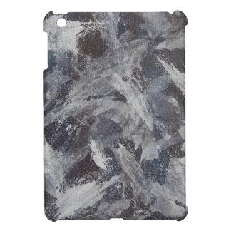 Weiße Tinte auf Brown und blauem Hintergrund iPad Mini Hülle
