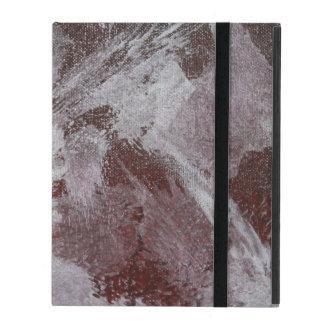 Weiße Tinte auf rotem Hintergrund Schutzhülle Fürs iPad