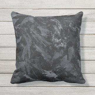 Weiße Tinte auf schwarzem #2 Kissen Für Draußen