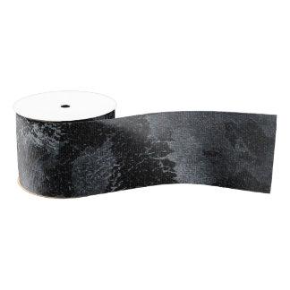 Weiße Tinte auf schwarzem #2 Ripsband