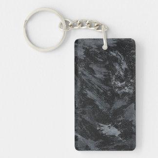 Weiße Tinte auf schwarzem #2 Schlüsselanhänger