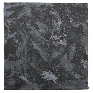 Weiße Tinte auf schwarzem #2 Stoffserviette