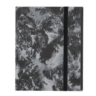 Weiße Tinte auf schwarzem #4 iPad Etui