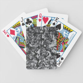 Weiße Tinte auf schwarzem Hintergrund #1 Bicycle Spielkarten