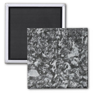 Weiße Tinte auf schwarzem Hintergrund #1 Quadratischer Magnet