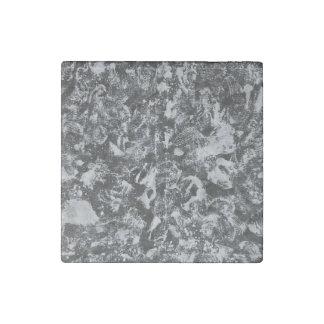 Weiße Tinte auf schwarzem Hintergrund #1 Steinmagnet