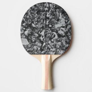 Weiße Tinte auf schwarzem Hintergrund #1 Tischtennis Schläger