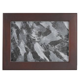 Weiße Tinte auf schwarzem Hintergrund #3 Erinnerungsdose