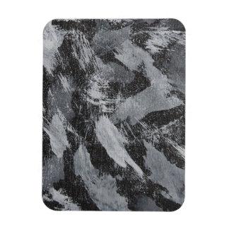 Weiße Tinte auf schwarzem Hintergrund #3 Magnet