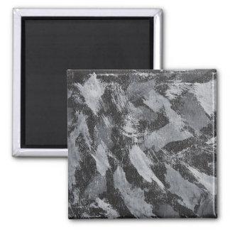 Weiße Tinte auf schwarzem Hintergrund #3 Quadratischer Magnet