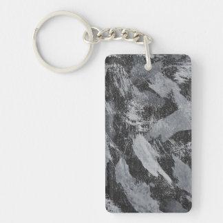 Weiße Tinte auf schwarzem Hintergrund #3 Schlüsselanhänger