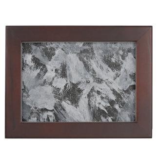 Weiße Tinte auf schwarzem Hintergrund #5 Erinnerungsdose