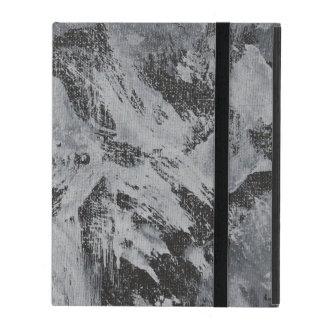 Weiße Tinte auf schwarzem Hintergrund #5 iPad Etui