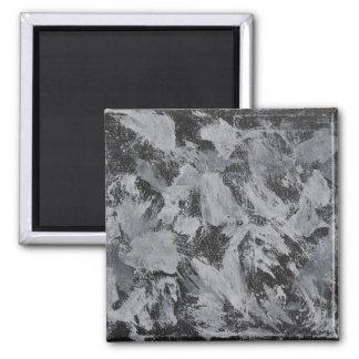 Weiße Tinte auf schwarzem Hintergrund #5 Quadratischer Magnet