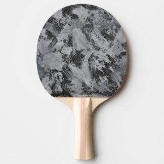 Weiße Tinte auf schwarzem Hintergrund #5 Tischtennis Schläger