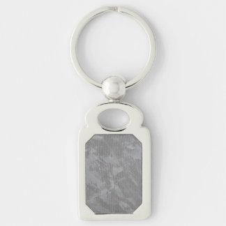 Weiße Tinte auf silbernem Hintergrund Schlüsselanhänger
