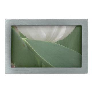Weiße Tulpe Rechteckige Gürtelschnalle