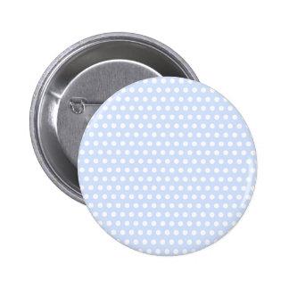 Weiße Tupfen auf Baby-Blau Runder Button 5,7 Cm