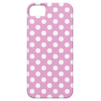 Weiße Tupfen auf blassem - Rosa iPhone 5 Schutzhüllen