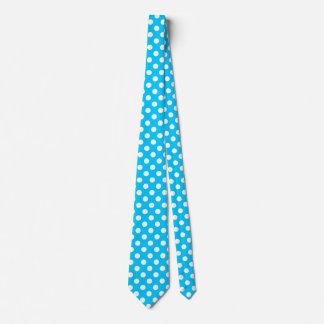 Weiße Tupfen auf elektrischem Blau Krawatte
