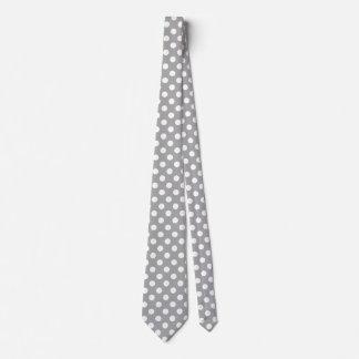 Weiße Tupfen auf Grau Krawatte