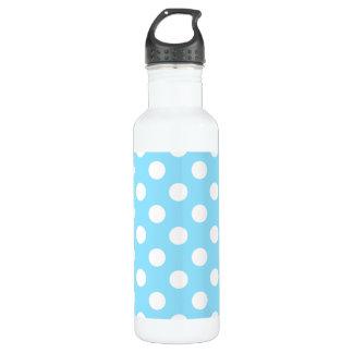 Weiße Tupfen auf hellblauem Trinkflasche