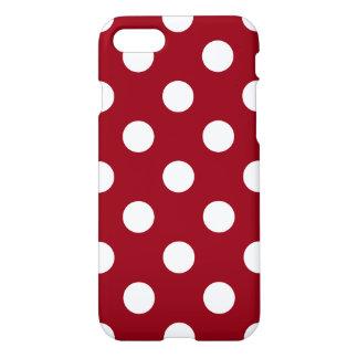 Weiße Tupfen auf hochrotem Rot iPhone 8/7 Hülle