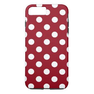 Weiße Tupfen auf hochrotem Rot iPhone 8 Plus/7 Plus Hülle