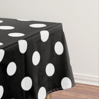 Weiße Tupfen auf Raben-Schwarzem Tischdecke