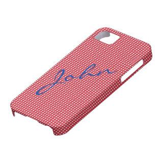 Weiße Tupfen auf roter iPhone 5 Abdeckung Etui Fürs iPhone 5