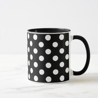 Weiße Tupfen auf schwarzem Hintergrund Tasse