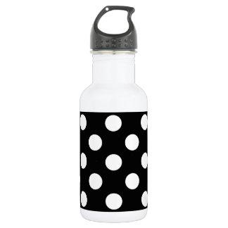 Weiße Tupfen auf Schwarzem Trinkflasche