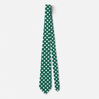 Weiße Tupfen auf weisem Grün Krawatte