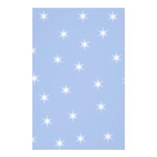 Weiße und blaue Stern-Entwurf Individuelle Büropapiere