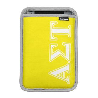 Weiße und gelbe Buchstaben AlphasigmaTau Sleeve Für iPad Mini