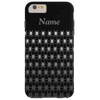 Weiße und graue Spinnen auf schwarzem 6/6s Tough iPhone 6 Plus Hülle