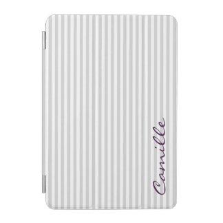 weiße und graue Streifen personalisiert namentlich iPad Mini Hülle