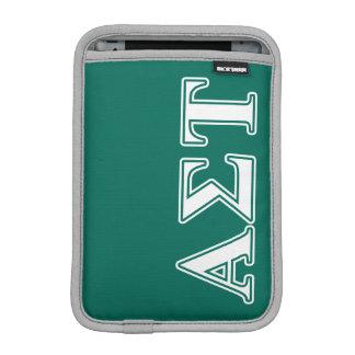Weiße und grüne Buchstaben AlphasigmaTau iPad Mini Sleeve