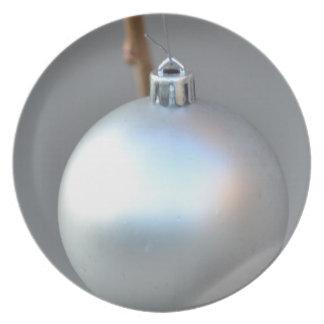 Weiße Verzierungs-Platte Flacher Teller