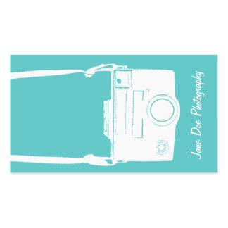 Weiße Vintage Kamera-Geschäfts-Karte Visitenkarten