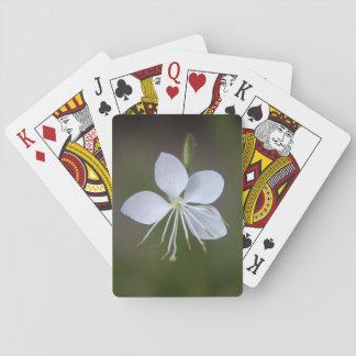 Weiße Wand-Blume (Whirling Schmetterlinge) Spielkarten